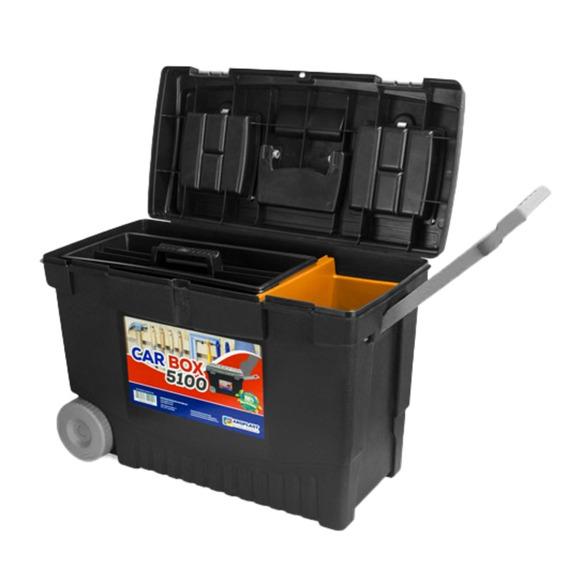 Caixa Baú Para Ferramentas Com Rodas Car Box 5100 Arqueplast