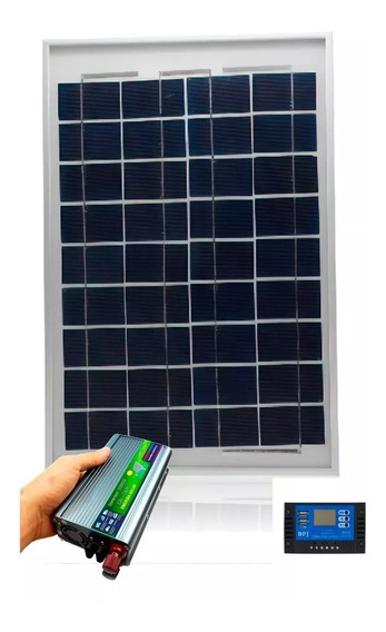 Kit Energia Solar 50w Inversor 220 1000w Controlador 10a