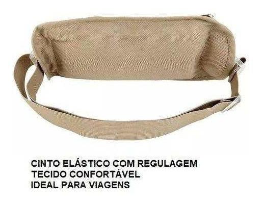 Doleira 2x Passaporte Viagem Esporte Pochete Money Bag