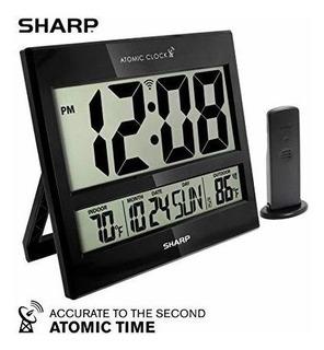 Reloj Sharp Atomico Escritorio Pared Termometro Envios