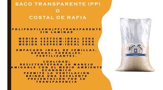 Costal De Rafia 45*80cm Transparente