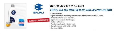 Kit Cambio De Aceite Y Filtro Bajaj Original