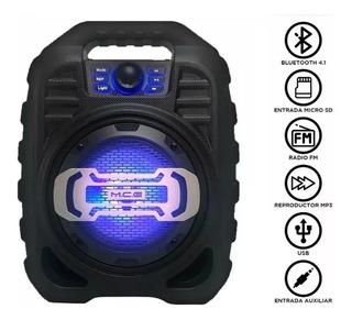 Parlante Portatil Zealot Mce123 Bluetooth Luces Bateria P