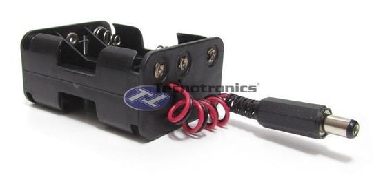 Adaptador / Suporte 6 Pilhas Aa Com P4 P/ Arduino / Pic