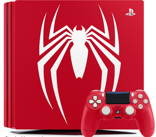 Consola Ps4 Roja 1tb Spider Man 4k Edicion Especial Slim+obs