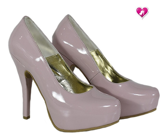 Stilletto Taco Aguja De Charol Mod Sherazade De Shoes Bayres