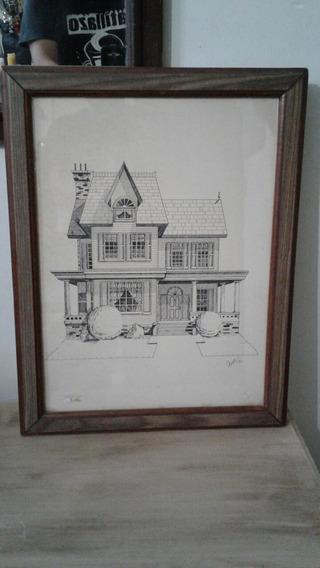 Dibujo Enmarcado Fechado 1976, Diseño, Arquitectura.