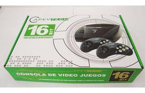 Sega Apevtech Retro 2 Joystick 16 Bits Cartucho 109 Juegos