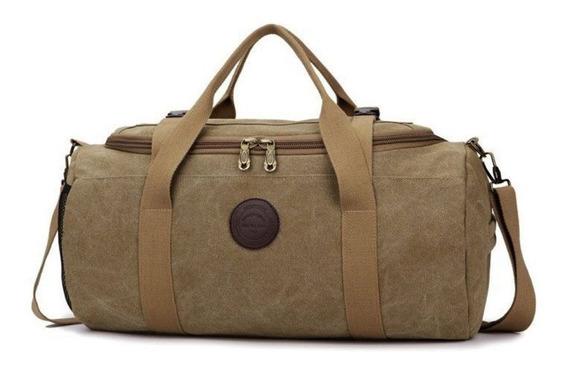 Bolsa De Viagem Masculina De Lona Disponível Em 4 Cores Luxo