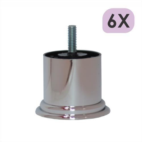 Imagem 1 de 4 de Mini Pé Cama Box Baixo Castor Gazin Ortobom 5cm Cromo - 6un