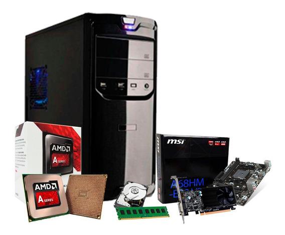 Pc Gamer Amd 3.8 Ghz, Geforce 2gb 1030 Gt, 8gb, 1tb, Pro