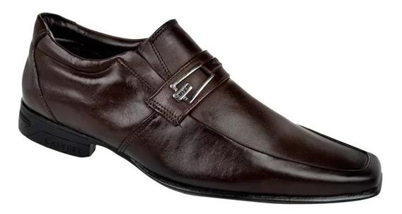 Sapato Social Masculino Calvest + Cinto Calvest C621 - Café