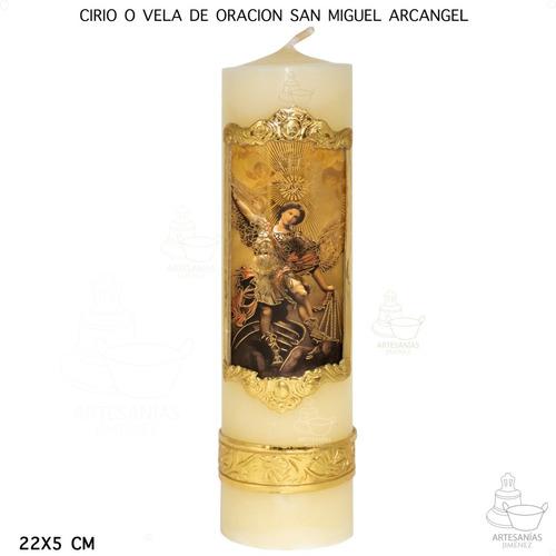 Cirio O Vela De Oración San Miguel Arcangel