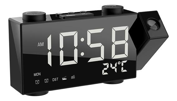 Lcd Digital Projeção Alarme Relógio Rádio-controll Sem Fio