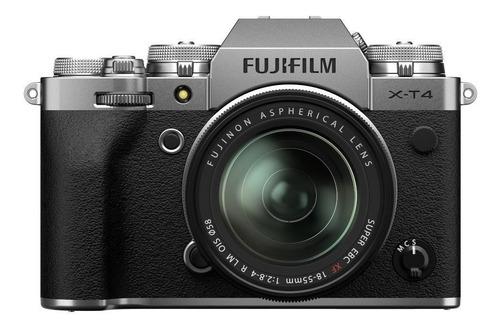 Fujifilm X-T4 mirrorless cor  prateado