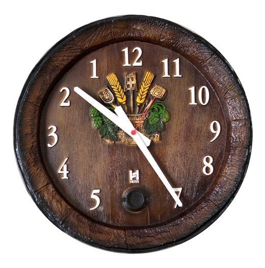 Relógio Barril Decorativo De Parede - Anti-horário