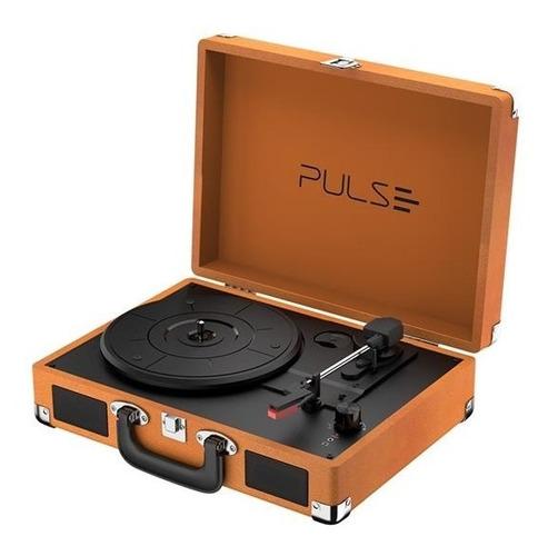 Vitrola Toca Discos Pulse Retrô Berry Suitcase Turntable