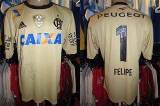 Flamengo Libertadores 2014 Camisa Goleiro G Número 1 Felipe.