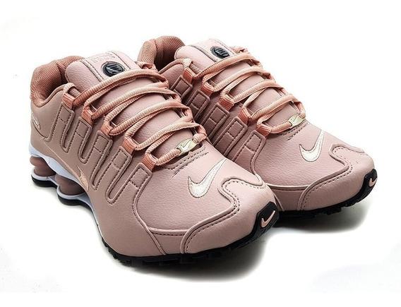 Tênis Feminino Nike Shox Nz 4 Molas Nude Original Lançamento