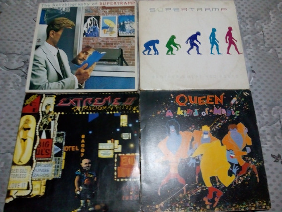 Lp Vinil Supertramp, Queen, Extreme Ii - Lote 4 Discos