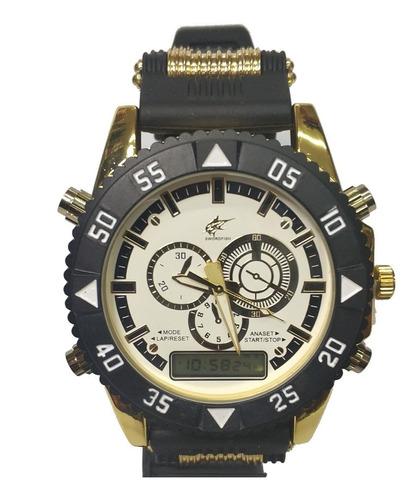 Relógio Luxo Dourado Militar Potenzia Barato Top Só Hoje