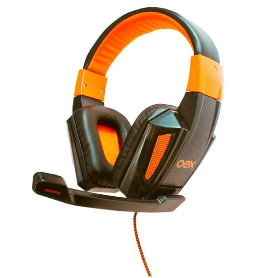 Fone De Ouvido Oex Headset Combat Preto/laranja, Hs205