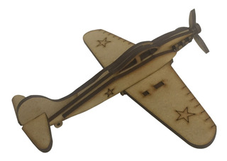 Avion De Madera Puzzle Para Armar.