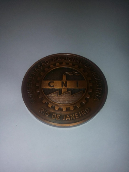 Moeda Comemorativa Da Cni (confederação Nacional Industria )