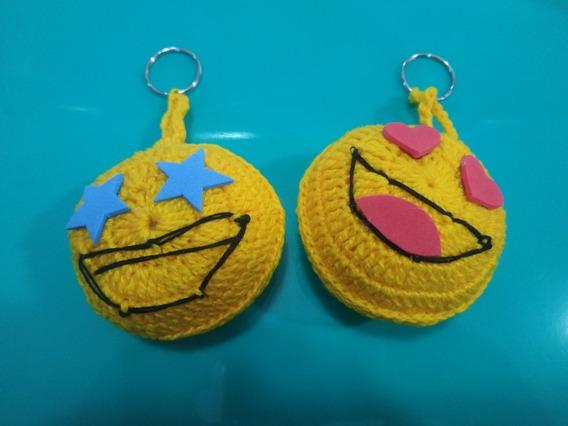 Chaveiro De Crochê Emoji