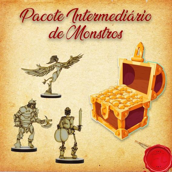 Pacote Intermediário De Monstros - Miniaturas Rpg