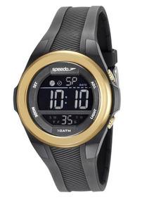 Relógio Speedo 65097l0evnp2 Digital Preto Dourado Médio