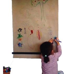Suporte + Bobina De Papel Kraft Para Escrever E Desenhar