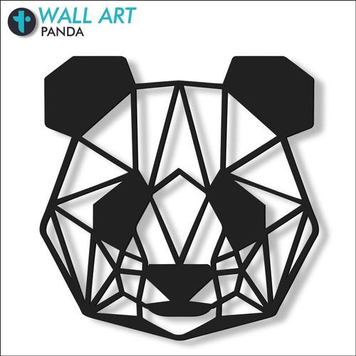 Imagen 1 de 6 de Cuadro Decorativo En Madera Calada Panda Mural Xl