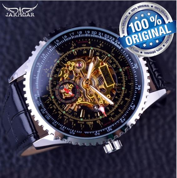 Relogio Masculino Luxo Esqueleto Social Jaragar Lxbr R50