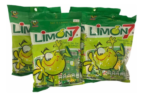 Imagen 1 de 6 de 400 Pz Sal Limon 7 Polvo Sobres 2gr Dulces Anahuac Chilito