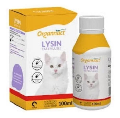 Imagem 1 de 3 de Lysin Cat Emulgel 100ml - Organnact