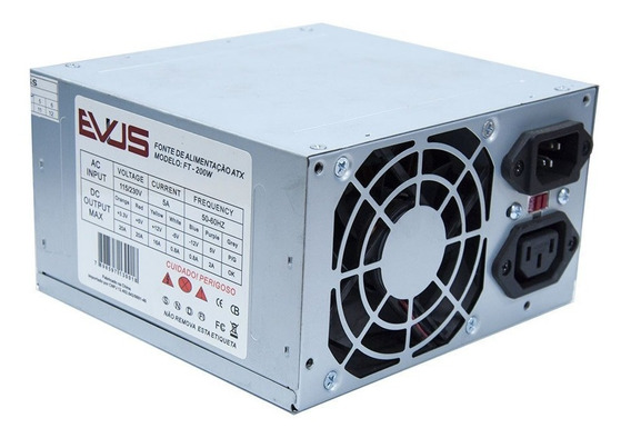 Fonte Evus Ft-200w 200w Real 20/ 24p 2 Sata