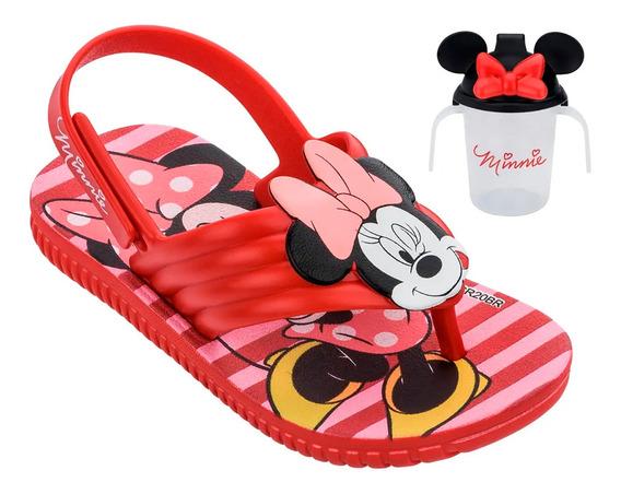 Sandália Infantil Disney Kids Minnie Copinho - Vermelho