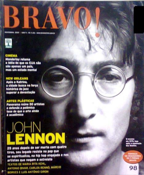 Revista Bravo! Nº 98 Novembro 2005 John Lennon - Música Arte