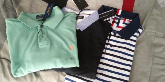 3 Camisas Polo Tommy Hilfinger Ralph Laurent Zara Xl