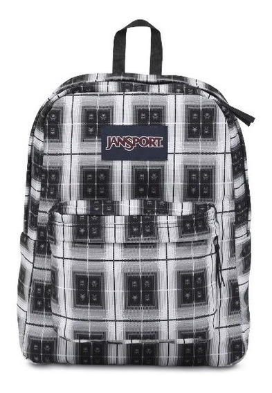 Jansport Mochila Superbreak Black Arcade Plaid - Matthew