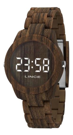 Relógio Lince Unissex Digital Madeira Mdp4614p Bxnx