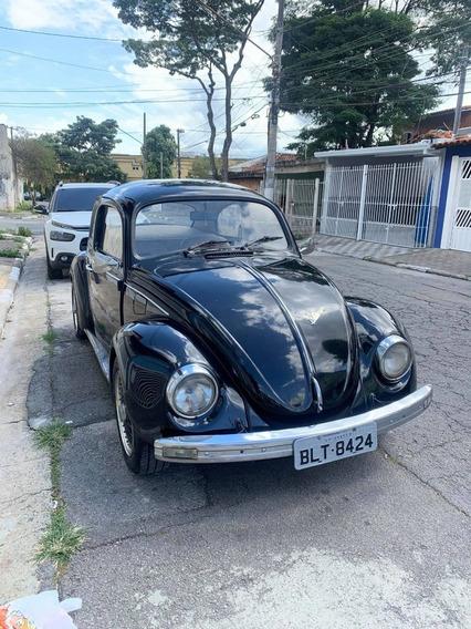 Fusca 81 Motor 1.300 Preto E Banco De Couro Perfeito Estado