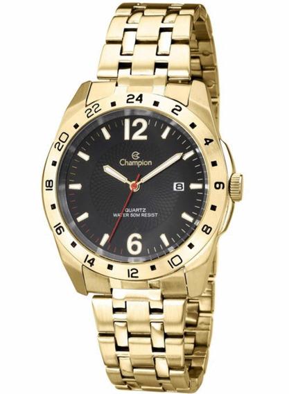 Relógio Champion Masculino Dourado Ca30196u