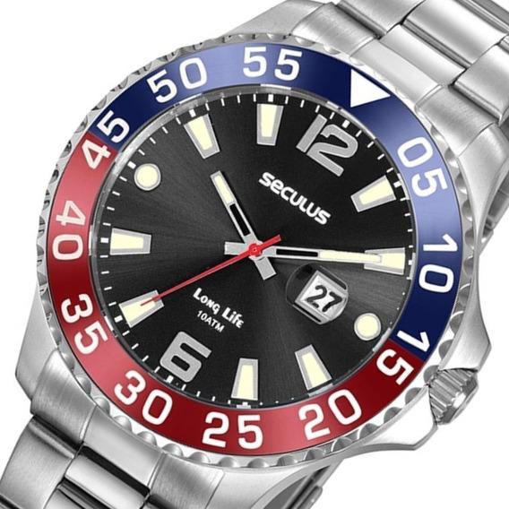 Relógio Masculino Seculus Prata 20843g0skna1