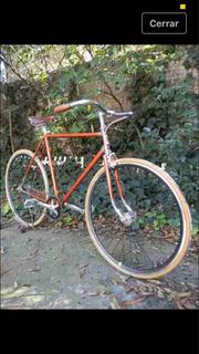 Bicicleta Estilo Fixie Manubrios De Madera