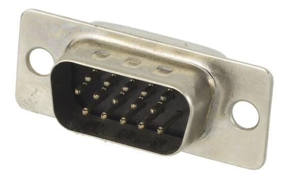 Kit Conector Db-15 Macho Vga + Capa Preta 5 Pçs .