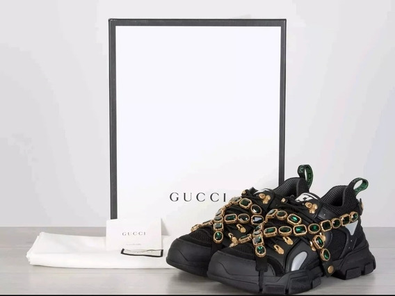 Tenis Gucci Flashtrek Con Cristales Originales