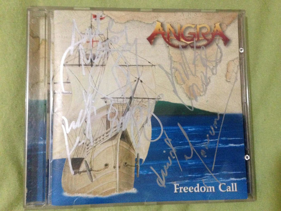 Cd (ep) Angra Freedom Call Autografado