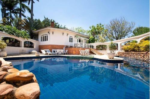 Casa Com 5 Dormitórios À Venda, 1200 M² Por R$ 6.200.000,00 - Estância Recreativa San Fernando - Valinhos/sp - Ca3879
